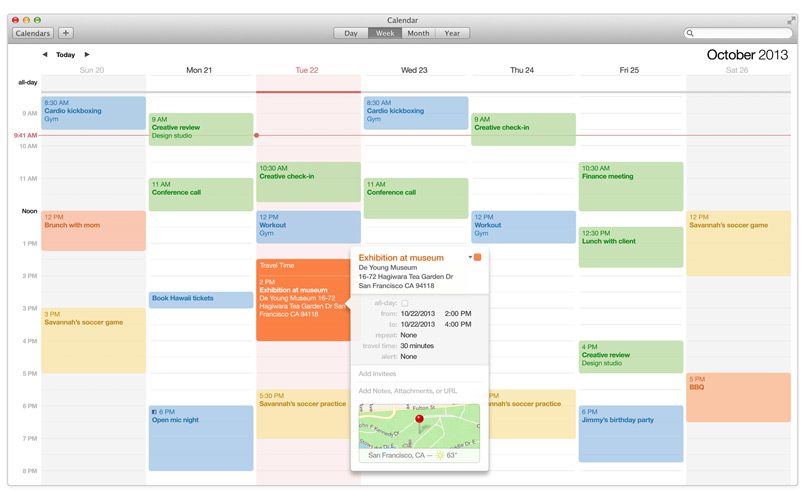 Calendar Apple : What to do… another productivity post sustainable